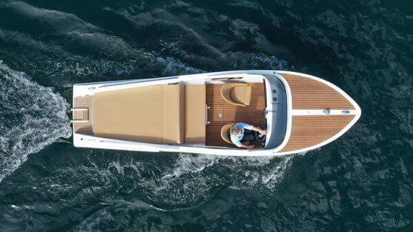 610 San Remo Elektroboot |Frauscher Bootswerft |von oben