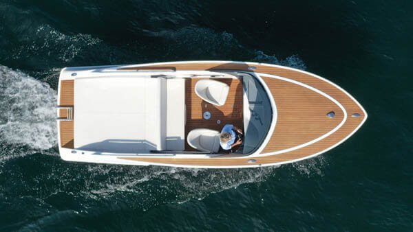 650 Alassio Elektroboot |Frauscher Bootswerft |von oben