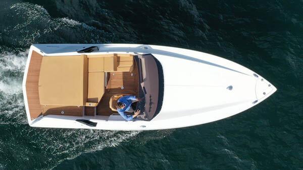 740 Mirage Elektroboot |Frauscher Bootswerft |von oben