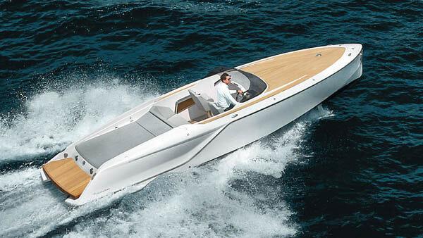 858 Fantom Motorboot |Frauscher Bootswerft |von oben