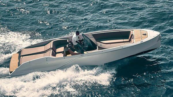 858 Fantom Air Motorboot |Frauscher Bootswerft |von oben