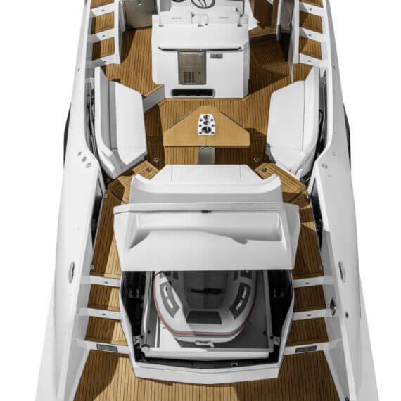 1414 Demon Motorboot weiß | Ansicht von oben
