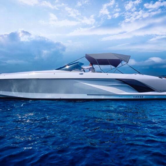 Motorboot 1414 Demon weiß mit Bimini