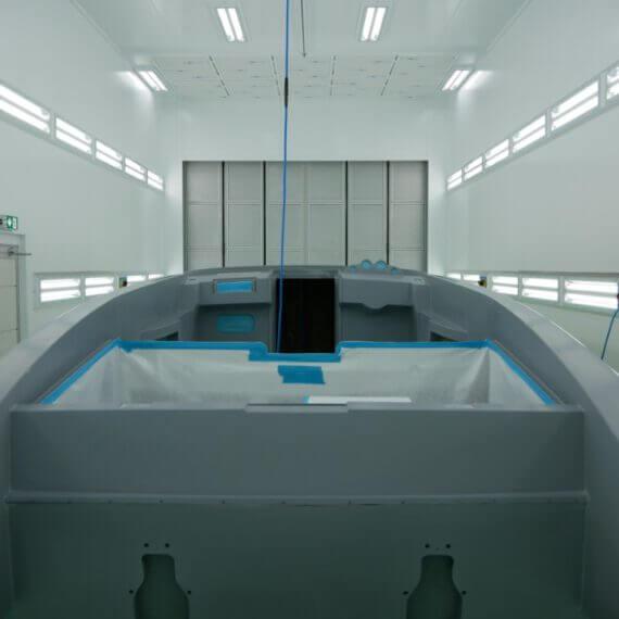 Manufaktur Frauscher Bootswerft |Abkleben Lackierung