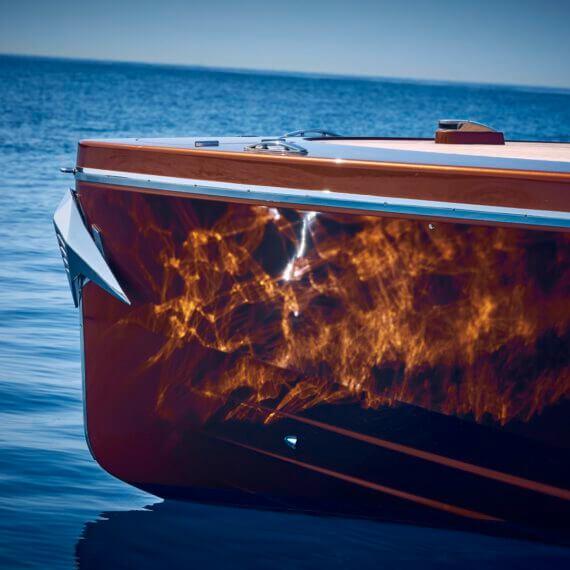 1017 GT Motorboot |Frauscher Bootswerft |nahaufnahme Bug