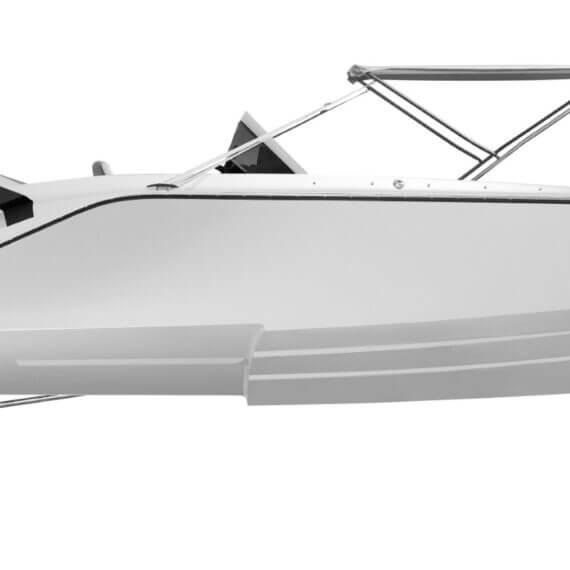740 Mirage Air Elektroboot weiß |Frauscher Bootswerft |seitlich Bimini