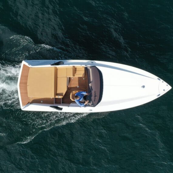 740 Mirage Elektroboot |Frauscher Bootswerft | von oben