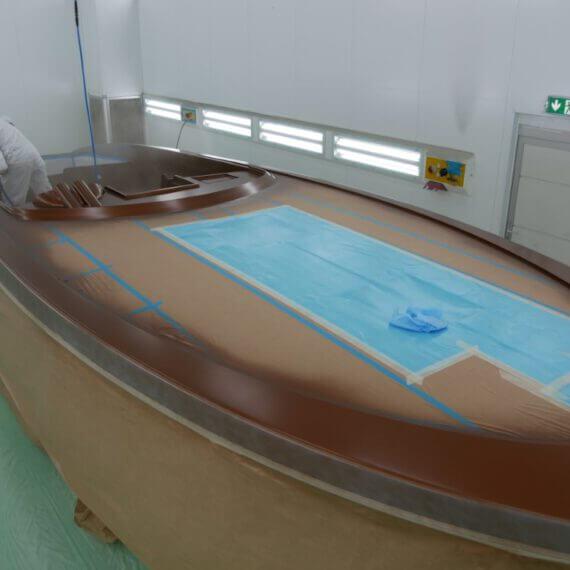 Manufaktur Frauscher Bootswerft |Lackieren