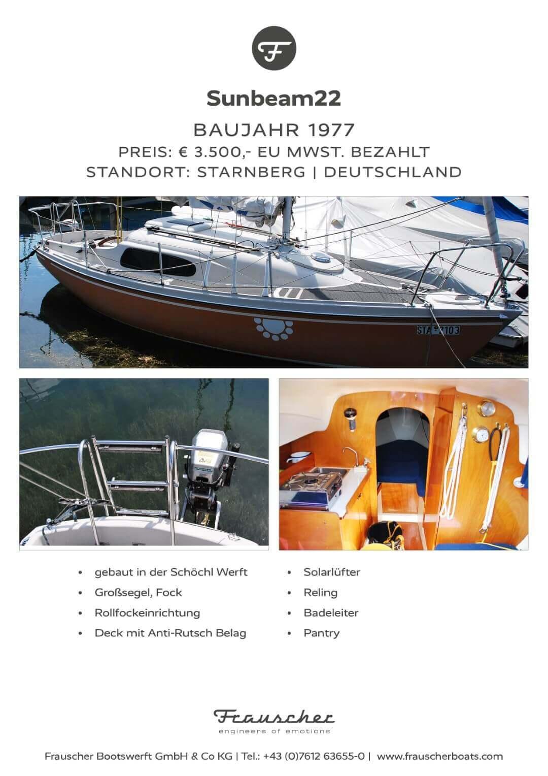 Segelboot aus Vorbesitz  Sunbeam22