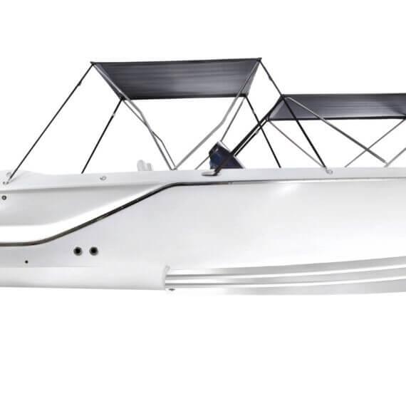 858 Fantom Air Motorboot |Frauscher Bootswerft | Seitlich Bimini