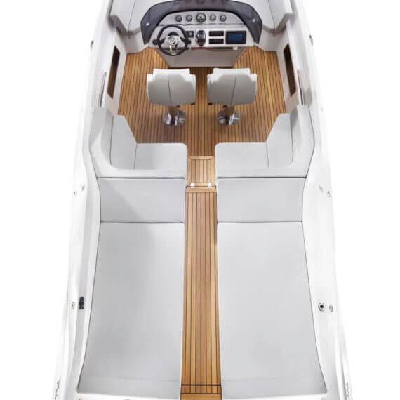 858 Fantom Air Motorboot |Frauscher Bootswerft | Ansicht von oben