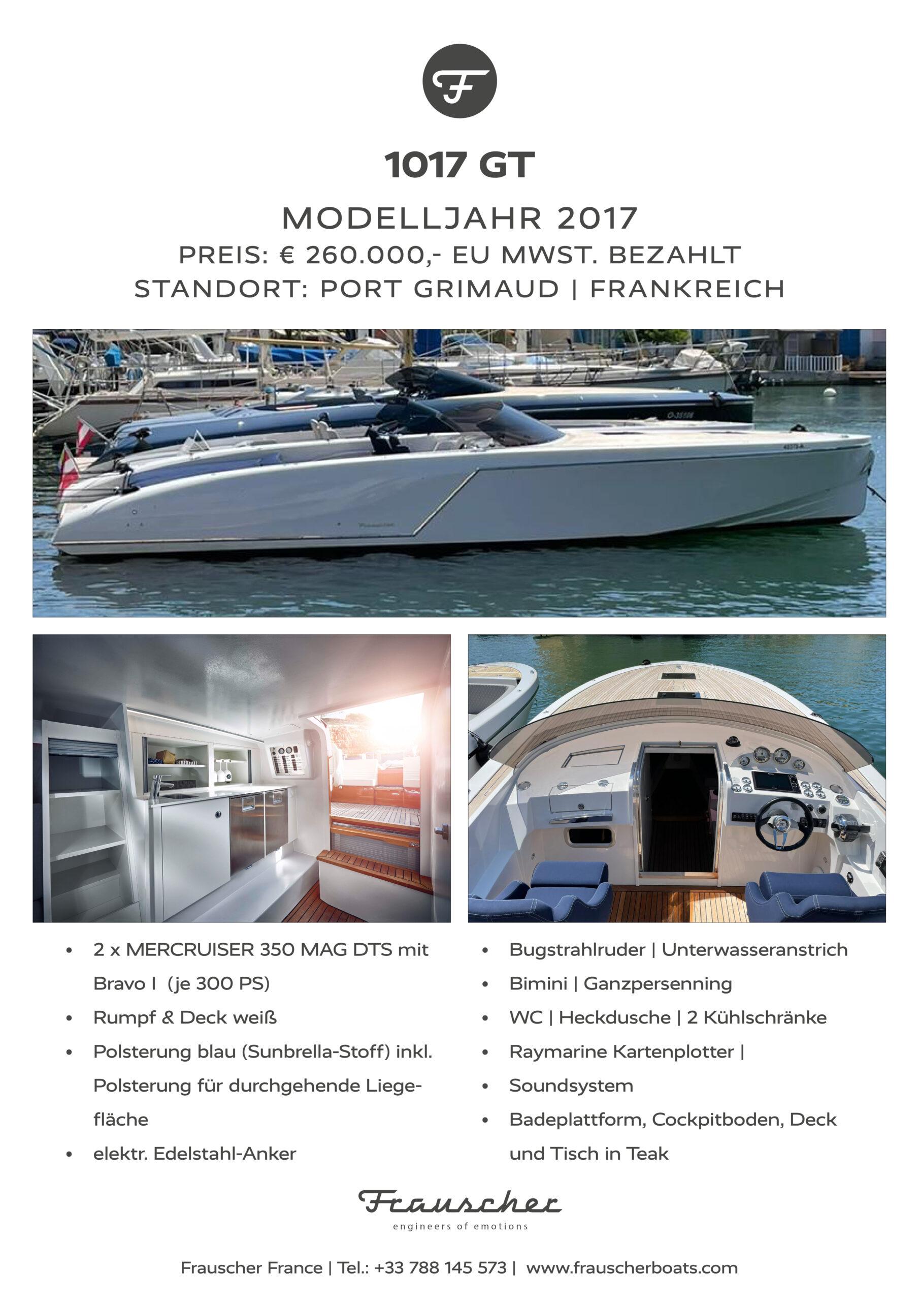 Gebrauchtboot 1017 GT in weiß
